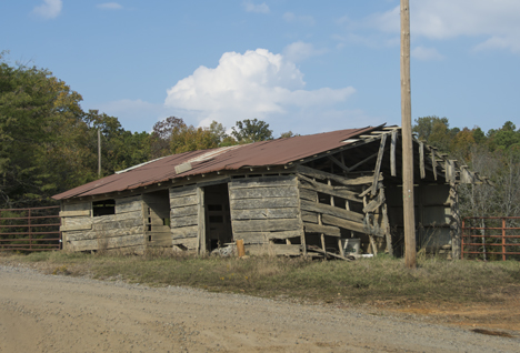 Old rural utility building