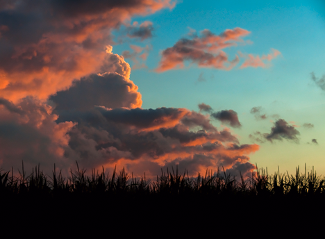 Storm clouds in sunset at Lake Dick Arkansas