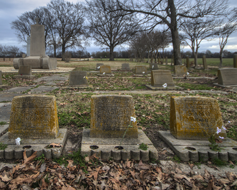 Infant graves at Rohwer Relocation Cemetery