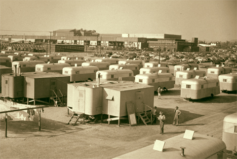 Since detainees returning to California were returning to nothing, Uncle Sam put up a park populated by small trailers to accommodate returning families with no where to go. Historians tell us that some stayed in these until their death. This was known as the Winona Housing