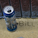 A beer can and Bill
