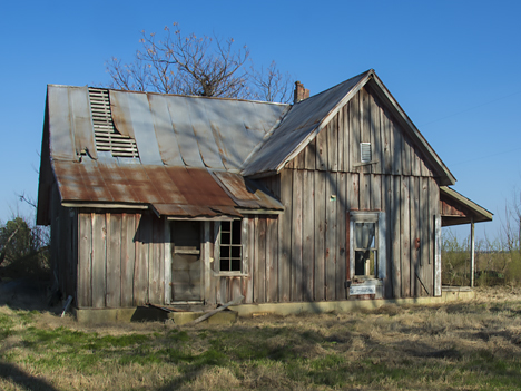 Old abandoned farm home