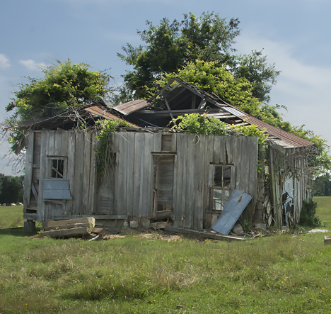 Collapsing old rural home