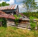 Old ramshackle barn