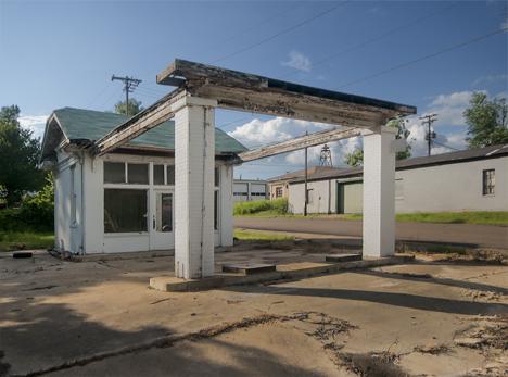 Old service station at Stephens Arkansas