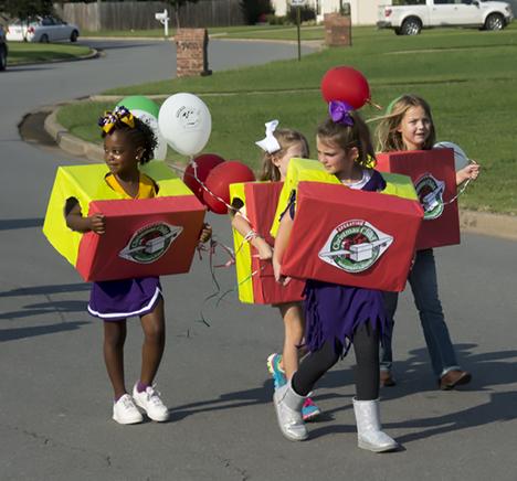 Shoe box for kids marchers