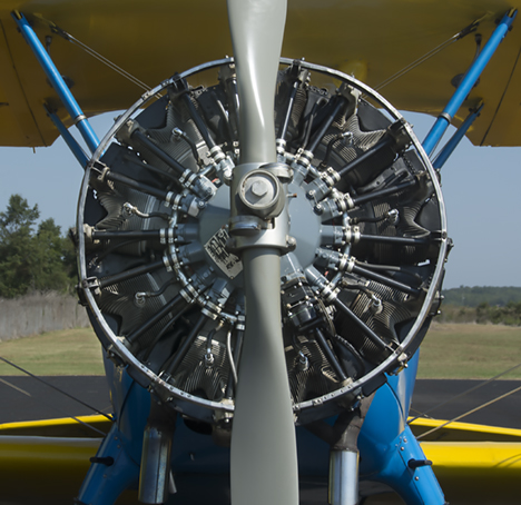 Stearman bi-plane from the front
