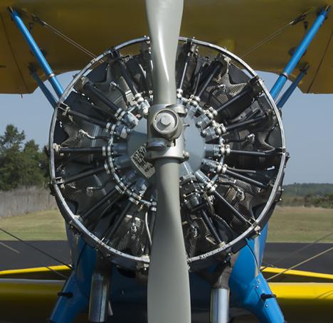 Stearman bi-plane from the front