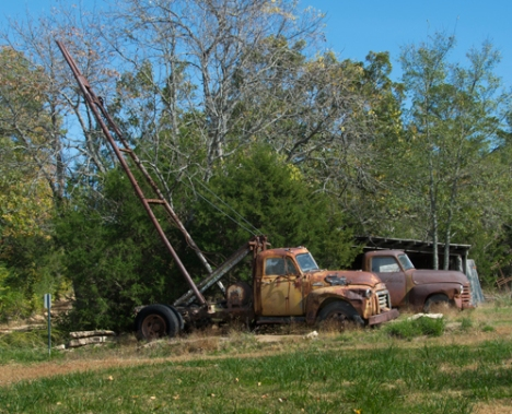 1954 GMC Winch Truck and 1953 Chevy pickkup