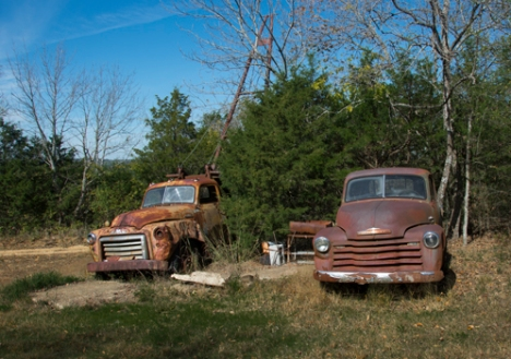 1953 GMC winch truck and '53 chevy pickup