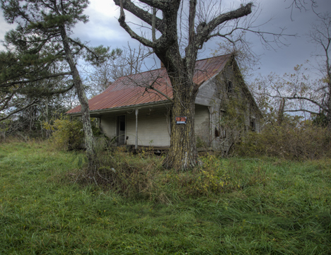 Abandoned home in Boston Arkansas