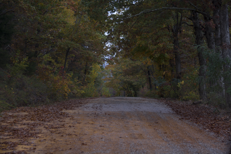 Gravel road at Boston AR