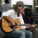 Street guitarist during the 2006 New Orleans French Quarter Fest