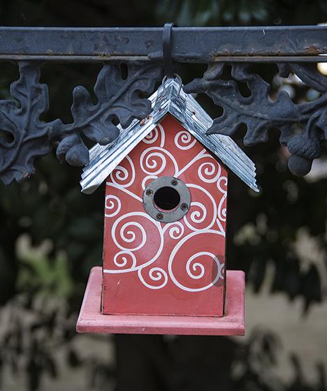 Pink birdhouse