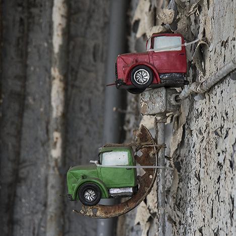 Truck bird houses
