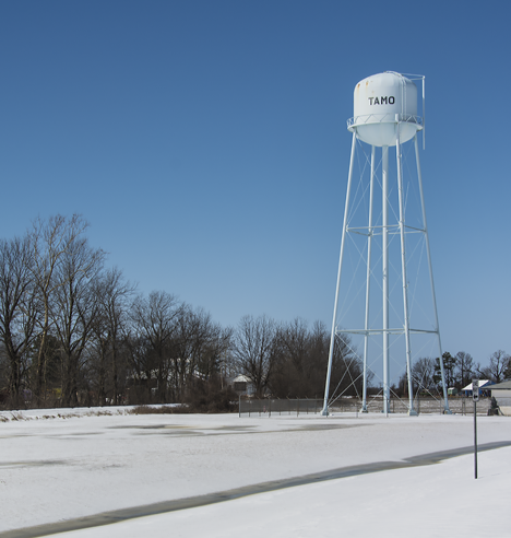 Water tower at Tamo, Arkansas