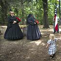 Child interrupts Civil War reenactment ceremony