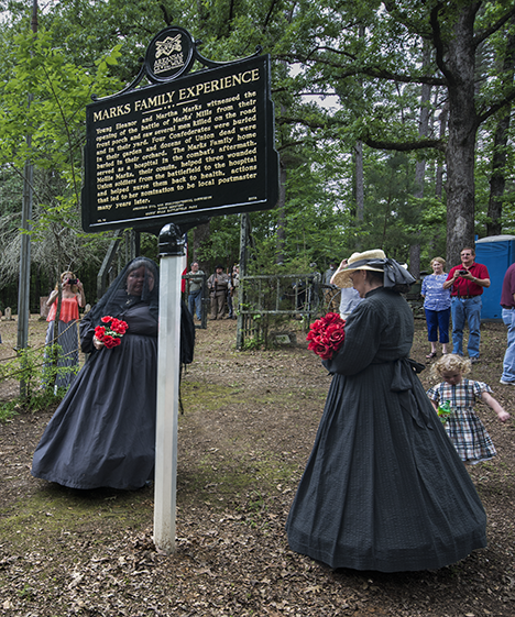 Civil War reenactment widows