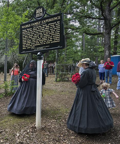 Civil War reenactment widows