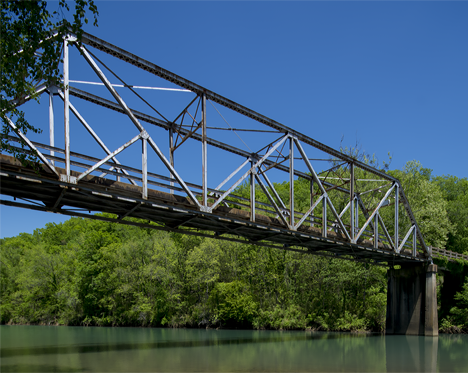 Arkansas Highway 123 bridge over Big Piney Creek