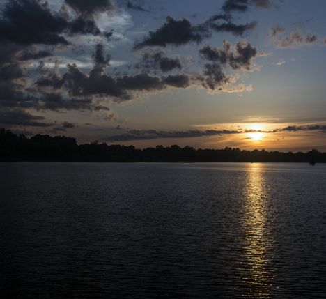 Sunset over Saracen Lake