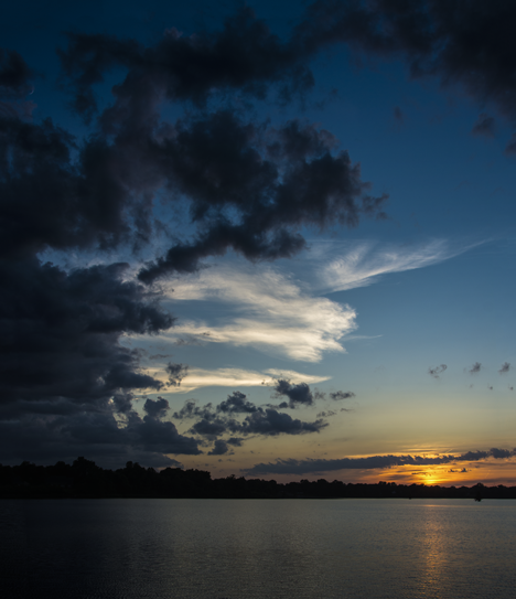 Wide view of Saracen Lake Sunset