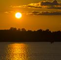 Golden sunset on Saracen Lake