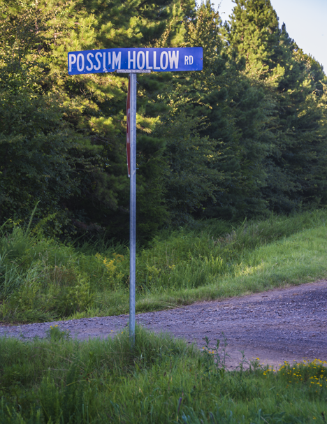 Possum Hollow street sign