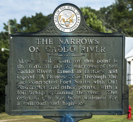 Caddo River Narrows historical marker