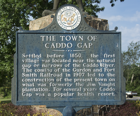 Caddo Gap historical marker