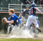 Action at home plate