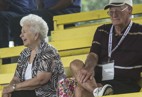 Grandparents at ball game