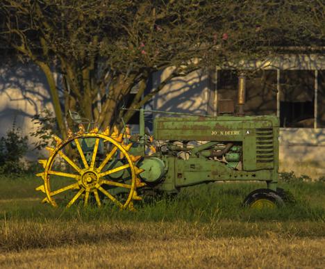 John Deere A model tractor