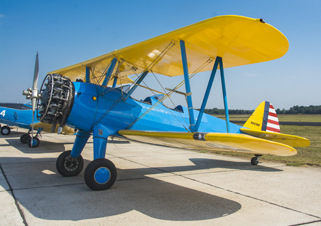 Old Stearman Biplane