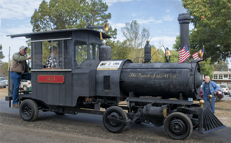 Replica steam locomotive