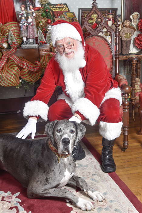 Santa with Great Dane