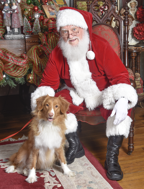 MIck Mack with Santa