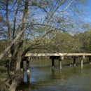 one lane bridge across Ouachita River