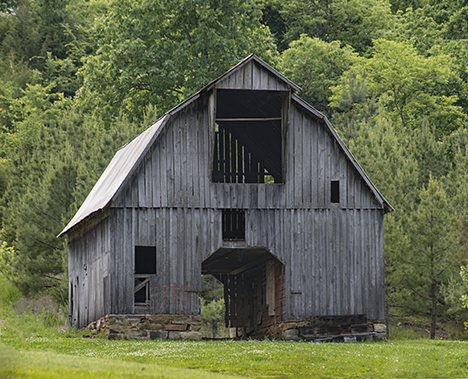 Well preserved old barn