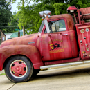 Old fire truck at Warren Arkansas